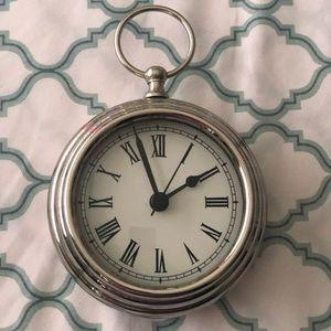 Pottery Barn clock ⏰ Silver